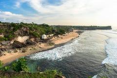 Spiaggia di Balangan Vista da sopra Immagine Stock Libera da Diritti