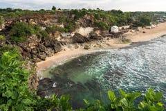 Spiaggia di Balangan Vista da sopra Fotografia Stock Libera da Diritti