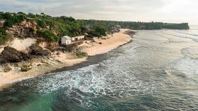 Spiaggia di Balangan Vista da sopra Vista sul mare Immagini Stock
