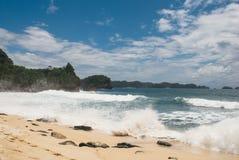 Spiaggia di Balekambang Fotografie Stock Libere da Diritti