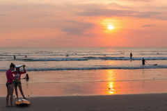 Spiaggia di Bali Fotografie Stock Libere da Diritti