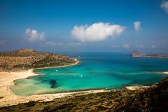 Spiaggia di Balos Fotografia Stock