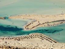 Spiaggia di Balos in Creta immagini stock libere da diritti
