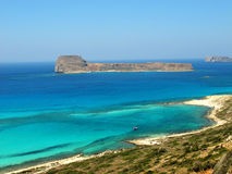 Spiaggia di Balos in Creta fotografia stock libera da diritti