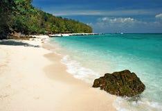 Spiaggia di bambù dell'isola Fotografia Stock Libera da Diritti