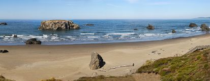 Spiaggia di Bandon, costa scenica dell'Oregon fotografia stock libera da diritti