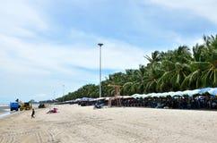 Spiaggia di Bangsaen, Chonburi, Tailandia Immagine Stock Libera da Diritti