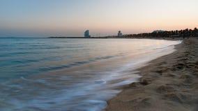 Spiaggia di Barcellona Fotografia Stock Libera da Diritti