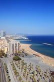 Spiaggia di Barcellona Immagini Stock Libere da Diritti