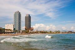 Spiaggia di Barcellona Fotografia Stock