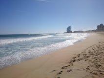 Spiaggia di Barcellona Immagine Stock