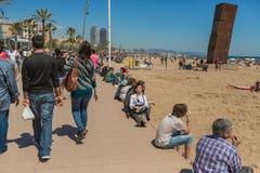 Spiaggia di Barceloneta a Barcellona immagine stock libera da diritti