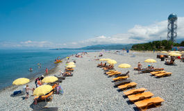 Spiaggia di Batumi Fotografie Stock