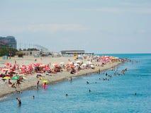 Spiaggia di Batumi Immagine Stock