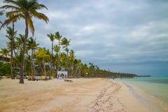 Spiaggia di Bavaro in Punta Cana, Repubblica dominicana Fotografia Stock Libera da Diritti