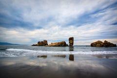 Spiaggia di Bayas, Asturia, Nord della Spagna Fotografie Stock Libere da Diritti