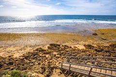 Spiaggia di Belhi nella costa della spuma, Victoria Australia Fotografia Stock Libera da Diritti