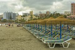 Spiaggia di Benalmadena, provincia di Andalusia, Spagna immagini stock