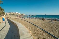 Spiaggia di Benidorm Fotografie Stock Libere da Diritti