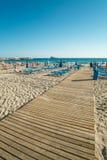Spiaggia di Benidorm Immagini Stock Libere da Diritti