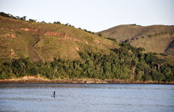 Spiaggia di Bertioga (Brasile) fotografia stock libera da diritti