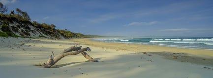 Spiaggia di Bherwerre dalla baia di abbondanza, parco nazionale di Boodero, Jervis Bay, ATTO, Australia immagini stock libere da diritti