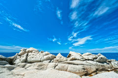 Spiaggia di Bianco del Capo, isola dell'Elba. Fotografia Stock