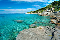 Spiaggia di Bianco del Capo, isola dell'Elba. Immagine Stock Libera da Diritti