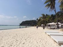 Spiaggia di bianco di Boracay immagini stock libere da diritti