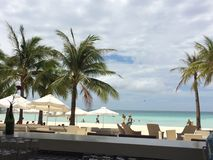 Spiaggia di bianco di Boracay fotografie stock