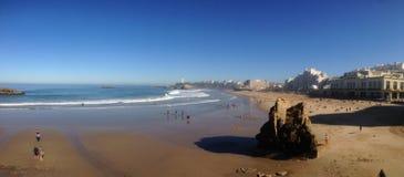 Spiaggia di Biarritz Immagini Stock
