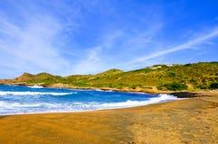 Spiaggia di Binimela in Menorca Balearic Island, Spagna fotografie stock