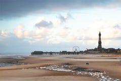 Spiaggia di Blackpool immagini stock libere da diritti