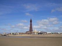 Spiaggia di Blackpool Fotografie Stock Libere da Diritti