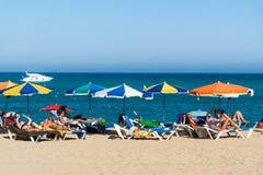 Spiaggia di Blanes Immagini Stock Libere da Diritti