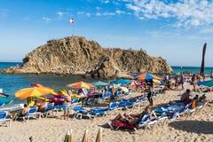 Spiaggia di Blanes Immagini Stock