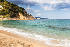 Spiaggia di Blanes Fotografia Stock Libera da Diritti