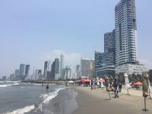Spiaggia di Bocagrande Fotografia Stock Libera da Diritti