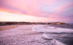 Spiaggia di Bondi al crepuscolo Immagini Stock Libere da Diritti