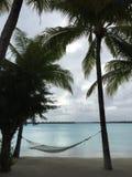 Spiaggia di Bora Bora Fotografia Stock Libera da Diritti