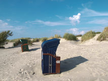 Spiaggia di Borkum Immagini Stock Libere da Diritti