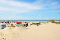 Spiaggia di Borkum Fotografie Stock Libere da Diritti