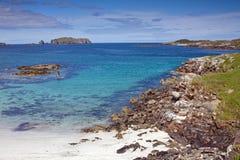 Spiaggia di Bosat, isola di Bernera, Lewis, Hebrides, Sco Fotografia Stock