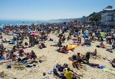 Spiaggia di Bournemouth Fotografie Stock Libere da Diritti
