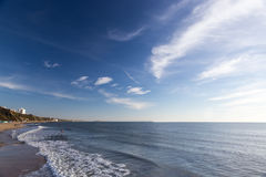 Spiaggia di Bournemouth, Dorset, Regno Unito immagine stock