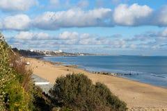 Spiaggia di Branksome e costa Poole Dorset Inghilterra BRITANNICA vicino a Bournemouth fotografia stock