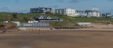 Spiaggia di Bude, situata in Inghilterra ad ovest del sud Immagini Stock Libere da Diritti