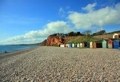 Spiaggia di Budleigh Salterton Immagine Stock