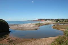 Spiaggia di Budleigh Salterton Fotografia Stock