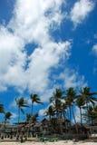 Spiaggia di Bulabog con grande cielo blu nella priorità bassa Fotografia Stock Libera da Diritti